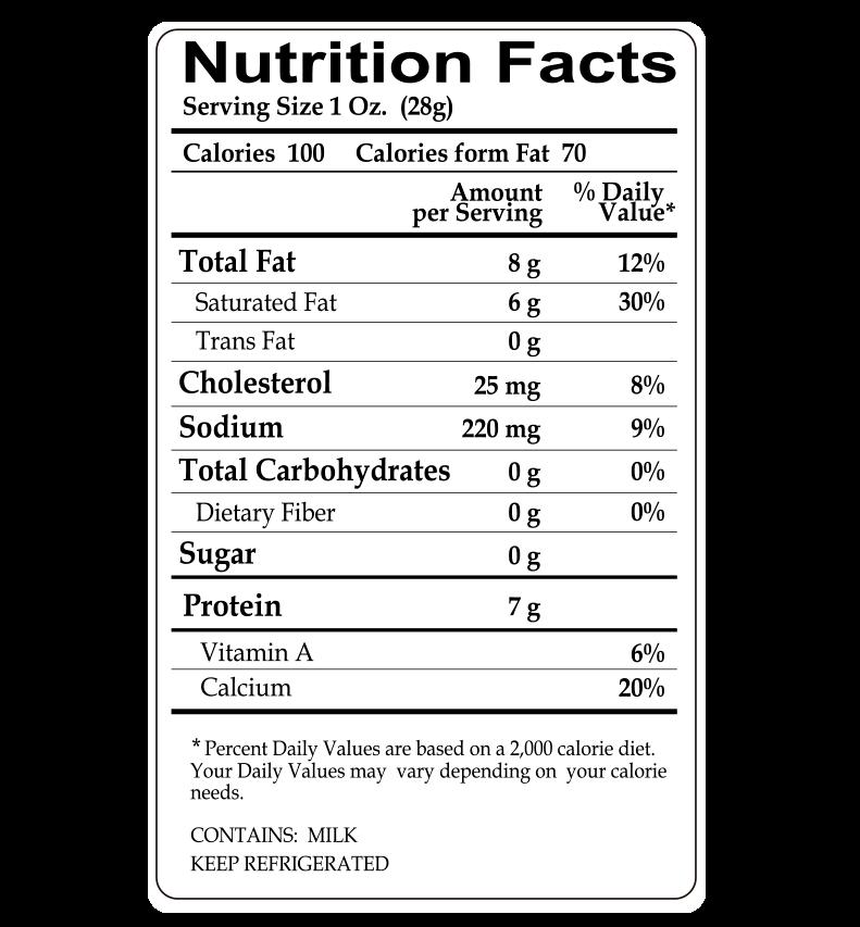calories in babybel cheese